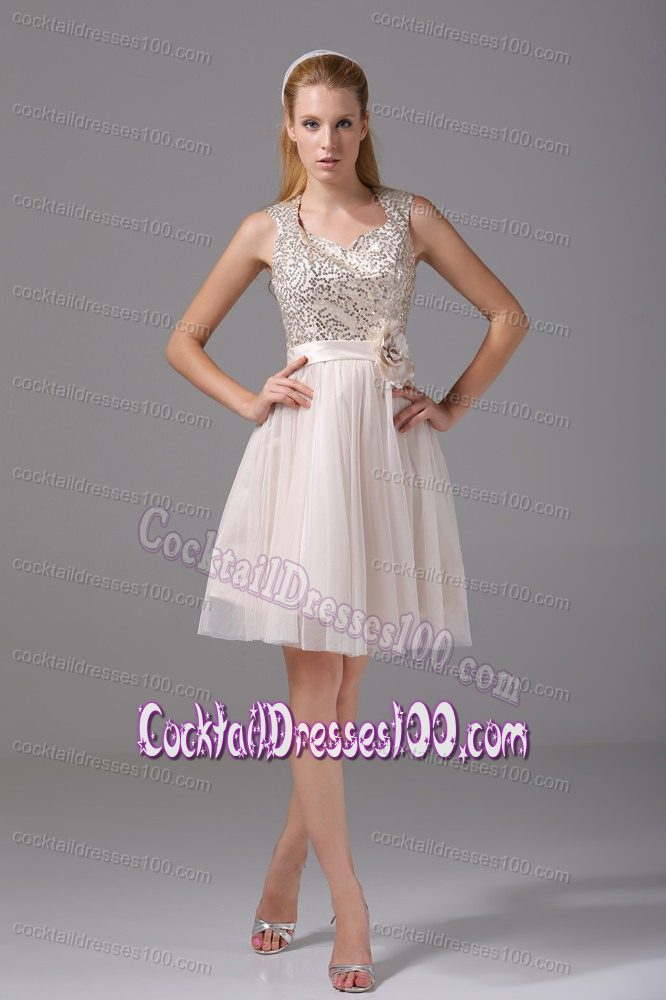 Tulle Homecoming Cocktail Dresses with Hand Made Flower