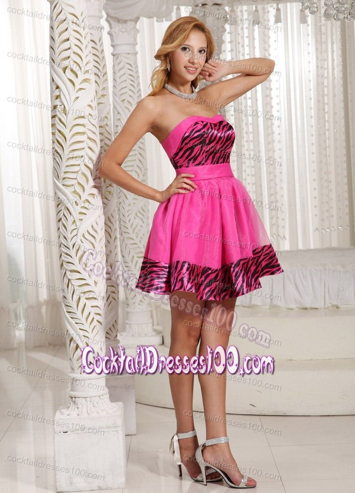 Zebra Short Prom Dresses 15