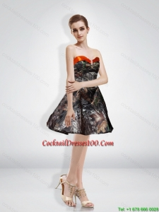 New Style A Line Sweetheart Beading Camo Cocktail Dresses with Knee-length