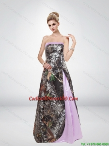 Elegant Multi Color Strapless 2015 Pretty Camo Cocktail Dresses