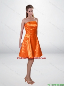 Elegant Short Strapless Orange Camo Cocktail Dresses with Sashes