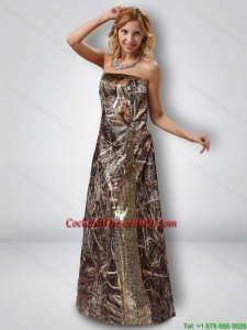 Exquisite Column Strapless Camo Cocktail Dresses with Sequins
