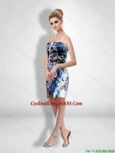 Unique Column Strapless Short Camo Cocktail Dresses