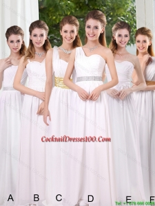 White Ruching Empire Cocktail Dresses for 2015