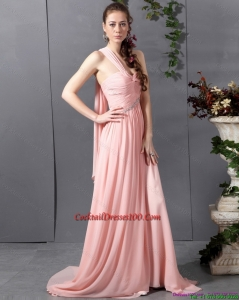 2015 Summer Comfortable Sweetheart Beautiful Cocktail Dress with Watteau Train
