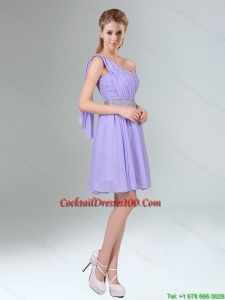 2015 Sassy Beaded and Ruched Short Charming Cocktail Dresses in Lavender