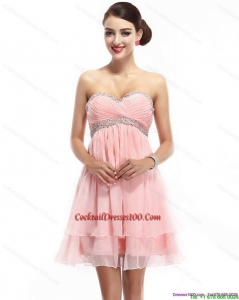 Beautiful Sweetheart 2015 Cocktail Dress with Beading and Ruching