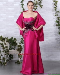 2015 Popular Sweetheart Floor Length Cocktail Dresses for Weddings with Beading