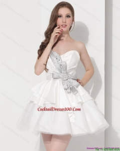 Wonderful Sweetheart Ball Gown Chic Cocktail Dresses in White