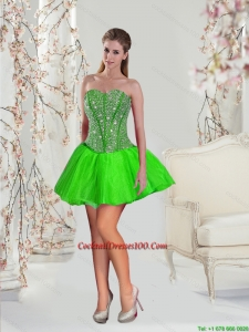 Detachable Beaded Fairy Cocktail Dresses in Spring Green for 2015