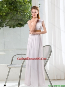 Ruching One Shoulder Empire Fairy Cocktail Dresses for 2015