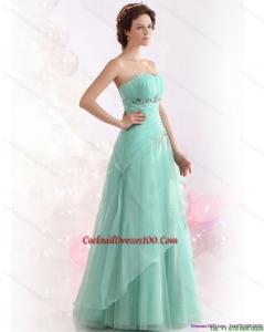 Appple Green Sweetheart Cocktail Dresses with Ruching and Beading
