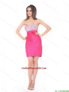 New Arrival Sweetheart Beading and Ruching Cocktail Dress for 2015 Fall