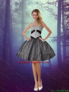 2016 Wonderful Sweetheart Appliques Beautiful Cocktail Dresses with Mini Length in Grey