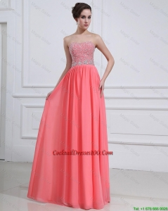 2016 Popular Watermelon Sweetheart Cocktail Dresses with Beading