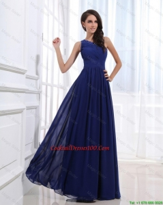 Fashionable Empire One Shoulder Cocktail Gowns with Beading