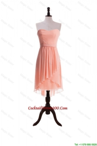 Beautiful Red Sweet Short Cocktail Dresses with Sashes