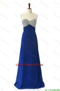 Perfect 2016 Beading Sweep Train cocktail Dresses in Royal Blue