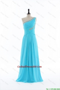Brand New 2016 Beading and Ruching Aqua Blue Cocktail Dresses