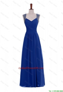 New Arrival Empire Straps Beaded Cocktail Dresses in Blue for 2016