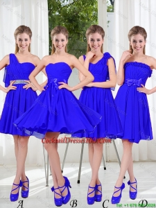 Elegant A Line Sweetheart Cocktail Dresses in Royal Blue