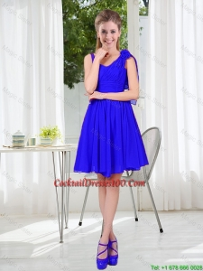 2016 Fall Straps Short Charming Cocktail Dresses in Royal Blue
