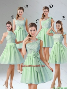 Charming Short Cocktail Dresses with Hand Made Flower for Wedding Party