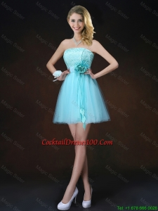 Charming Lace Short Cocktail Dresses in Aqua Blue