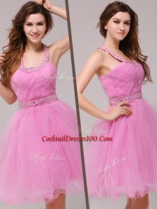 Best Mini Length Straps Beading Prom Dress for Spring