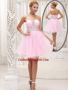 Exquisite Strapless Beading Short Elegant Cocktail Dress for Homecoming