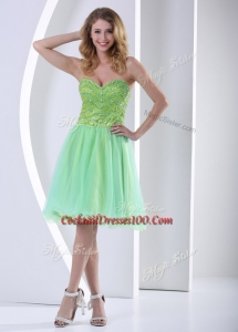 Lovely Sweetheart Beading Short Fairy cocktail Dresses for Party