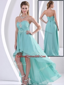 Low Price Sweetheart High Low Elegant Cocktail Dress with Beading