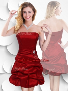 Red Strapless Cocktail Dresses