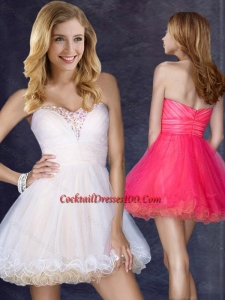 Hot Sale Short Sweetheart Cocktail Dress with Beading in Organza