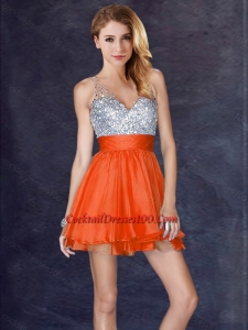 8e2634f3ff  195.39  89.69  New Style Backless Orange Red Short Cocktail Dress with  Sequins