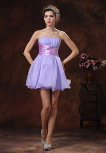 Popular Cocktail Junior Graduation Dress in Lilac with Beaded Waist
