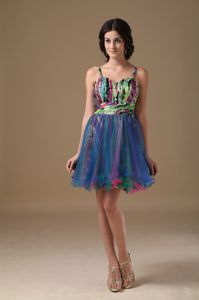 New Multi-color Straps Short Cocktail Dress For Prom with Beading