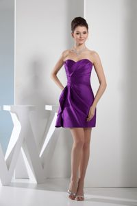 Hot Sale Sweetheart Short Ruched Prom Cocktail Dresses in Purple