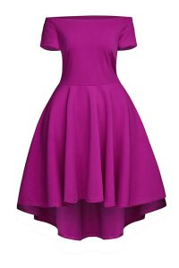 Tea Length Side Zipper Cocktail Dress Fuchsia for Prom and Party with Ruching