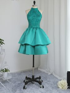 Mini Length A-line Sleeveless Turquoise Cocktail Dress Zipper