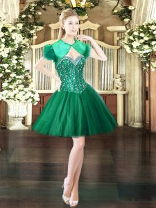 Free and Easy Sweetheart Sleeveless Tulle Club Wear Beading Lace Up
