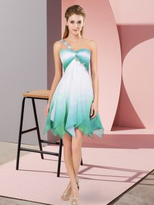 Multi-color Sleeveless Beading Asymmetrical Club Wear