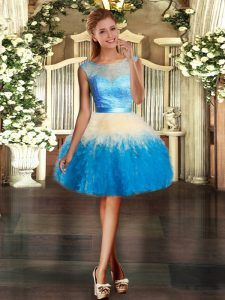 Multi-color Sleeveless Lace and Ruffles Mini Length Club Wear