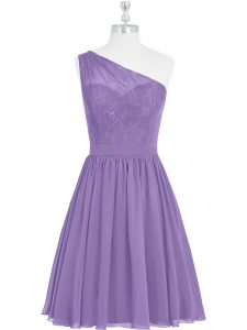 Classical Knee Length A-line Sleeveless Lavender Cocktail Dresses Side Zipper