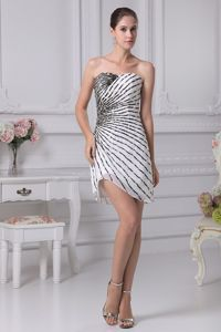Sweetheart Mini-length Cocktail Party Dresses with Colorful Beading