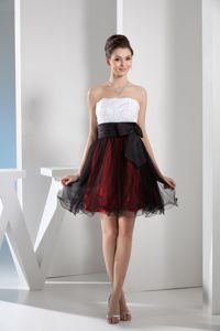 Muti-color Organza Cocktail Party Dress with Appliques and Bow