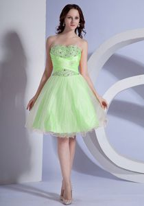 Spring Green Beading Ruche Cocktail Dresses for Celebrity Wholesale