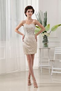 Mini-length Sweetheart Beading Cocktail Party Dresses on Discount
