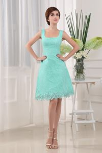 Apple Green Square Lace Homecoming Cocktail Dresses in New York