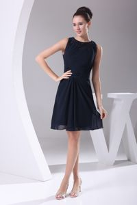 New Arrival Scoop Chiffon Cocktail Reception Dress with Mini-length